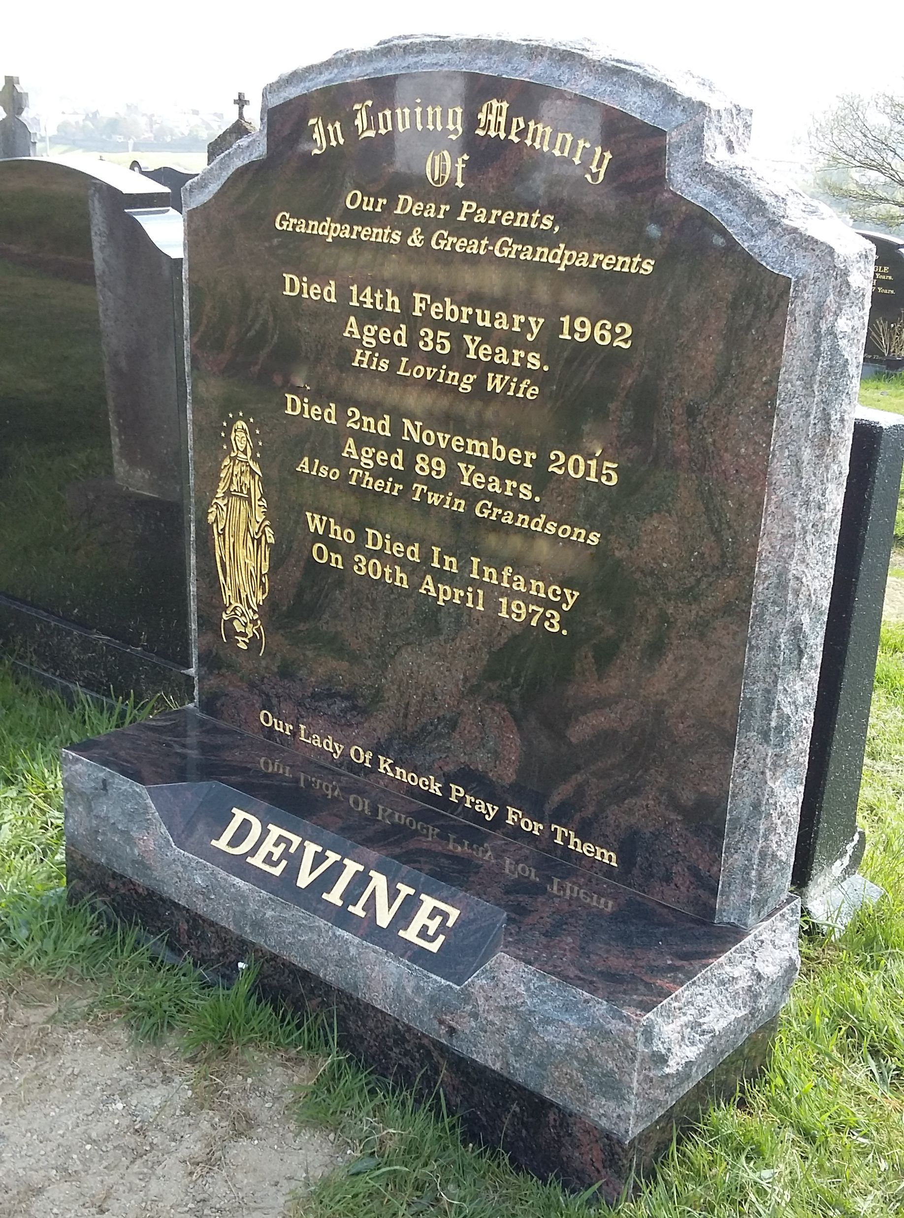 Rock Pitch G3 Devlin Memorials Headstones Donegal