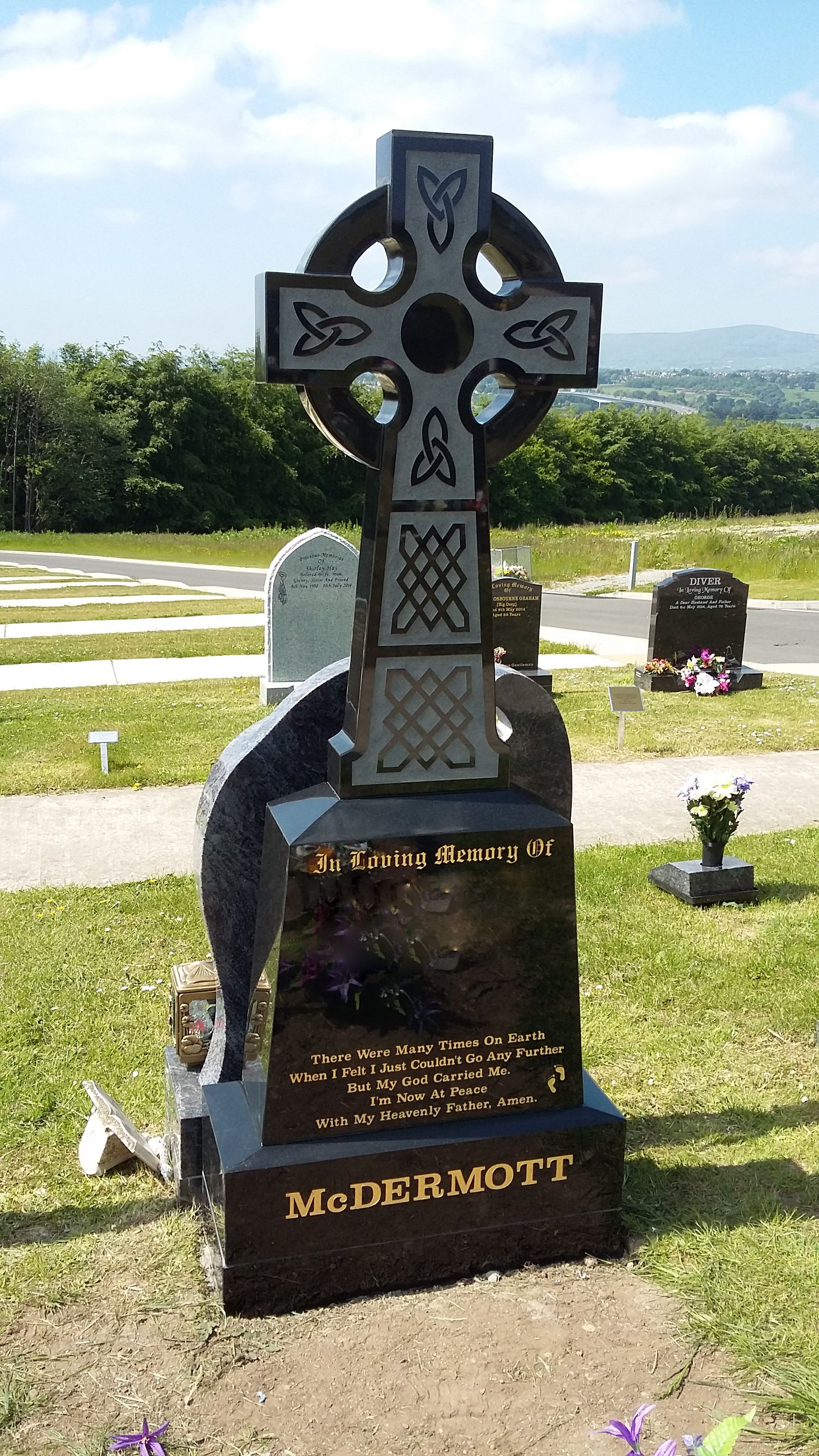 Tall Celtic Cross Devlin Memorials Headstones Donegal