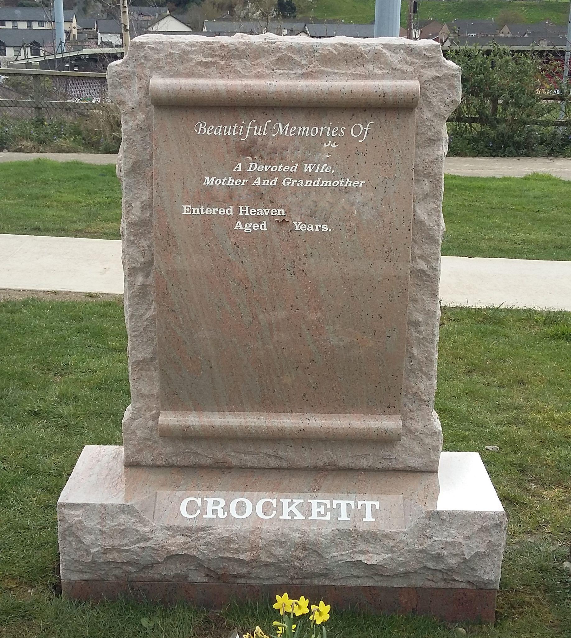 Rock Pitched Raw Scroll Devlin Memorials Headstones