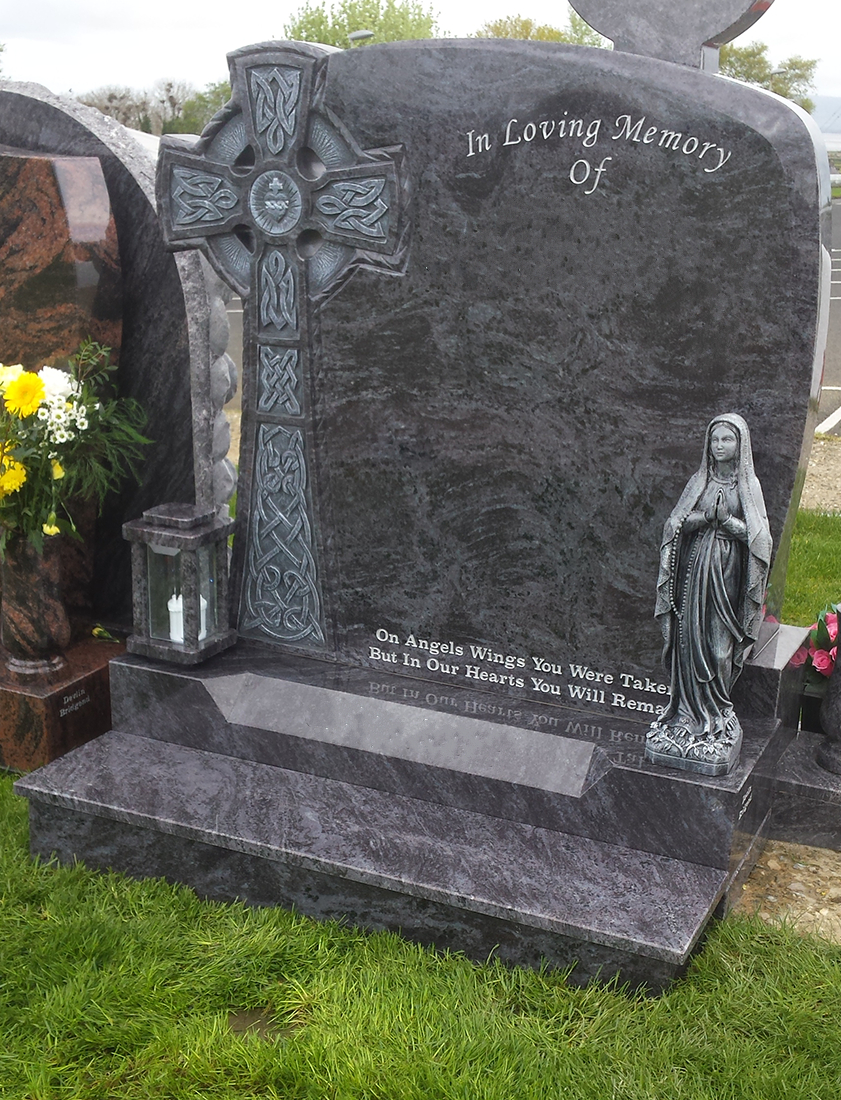 Celtic Breeze Bahama Blue Granite Devlin Memorials
