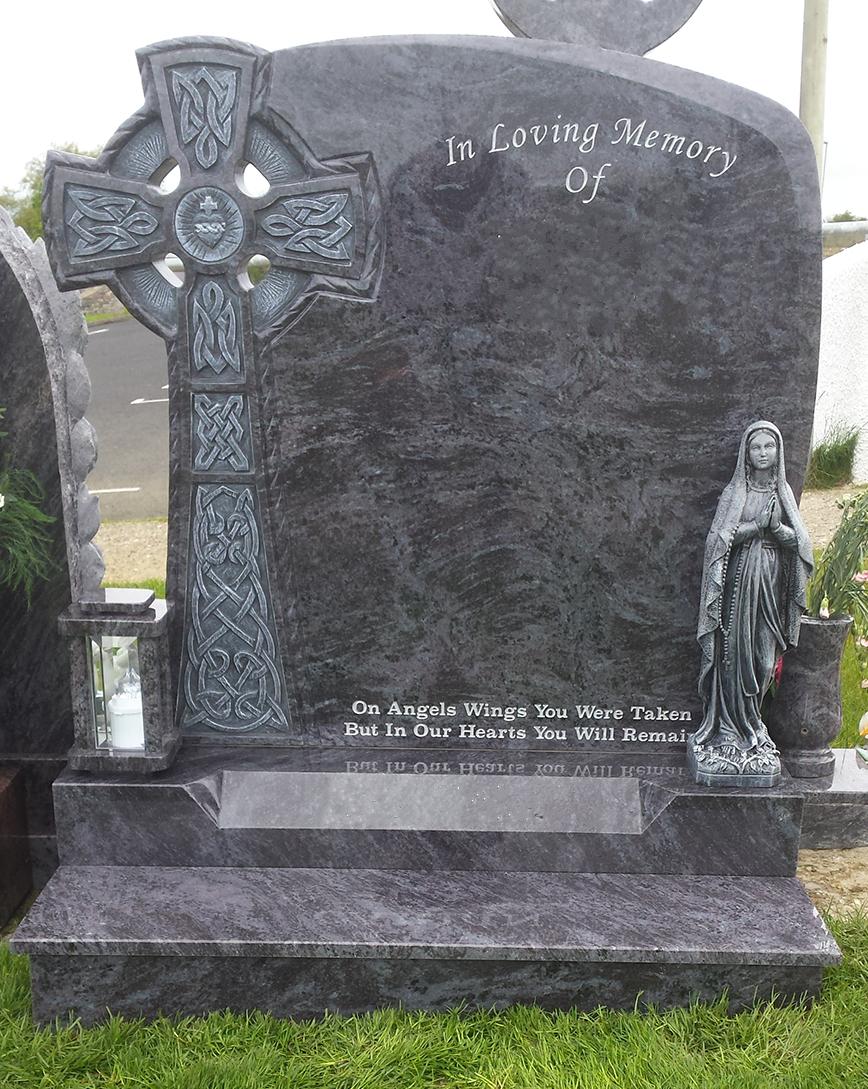 Celtic Breeze Bahama Blue Granite Devlin Memorials