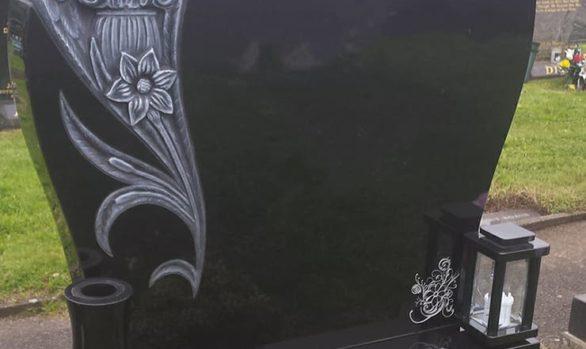 Custom Design Scroll With Antique Roses Devlin Memorials