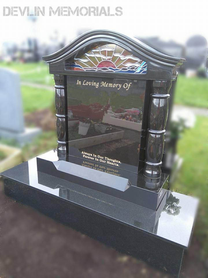 Stained Glass Window Devlin Memorials Headstones